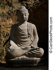 Statue of Buddha. - Statue of Buddha in country ambient.