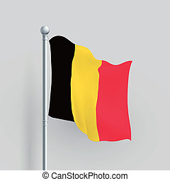 3d vector Belgium flag blowing in a breeze