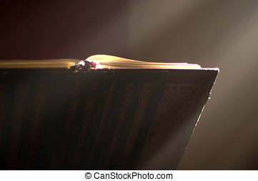 Lectern in altar with a holy bible. - Lectern in a church...