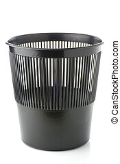 Office plastic black garbage bin - Plastic black garbage bin...
