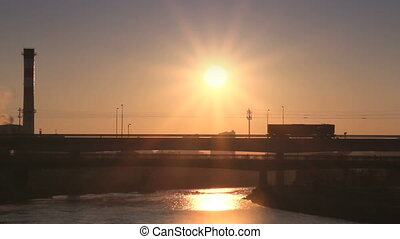 bridge sunrise carriageway