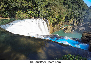 waterfall in shifen taiwan for adv or others purpose use