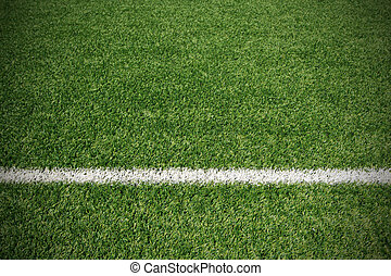 Soccer ball green grass field