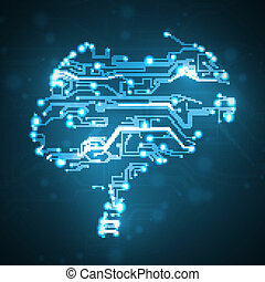 Circuit board background, technology illustration, form of...