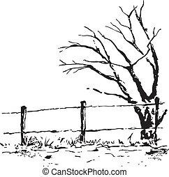 Vector autumn tree illustration