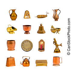 Collection antique objects