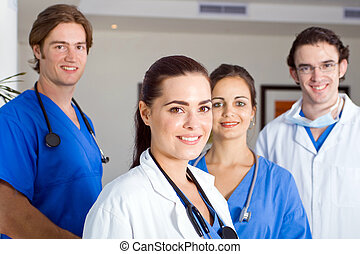 attractive hospital staff