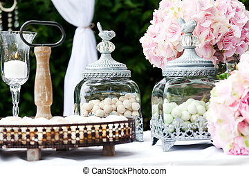 Wedding decoration - Candy bar at wedding reception