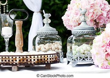 Wedding decoration - Candy bar at wedding reception