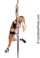 Stripper pole dancing