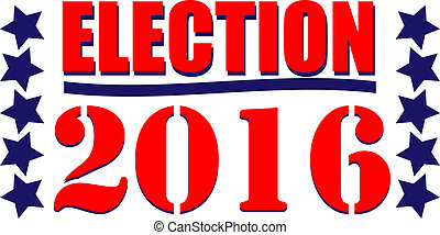 Election 2016 Icon - Election 2016 graphic icon or web icon...