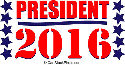 President 2016 American - President 2016 graphic icon or web...