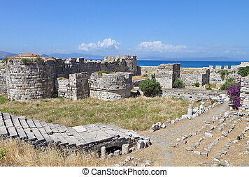 Castle at Kos island in Greece - The Saint John Knights...