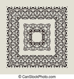Ornamental Frame. - Vector border. Ornamental Frame. Hand...