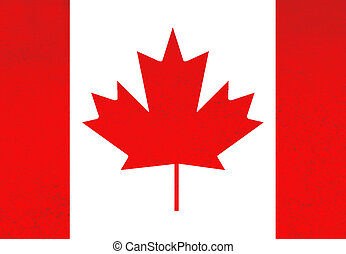 canada red and white flag illustration, computer generated