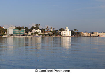 Kos island in Greece - The seafront of Kos island capital...