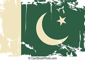 Pakistani grunge flag Vector illustration Grunge effect can...