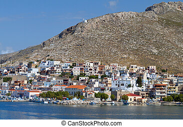 Harbor of Kalymnos island in Greece