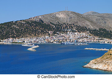 Kalymnos island in Greece - Harbor of Kalymnos island in...