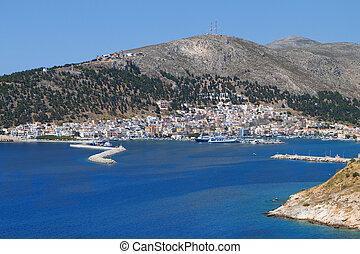 Kalymnos island in Greece - Harbor of Kalymnos island in...