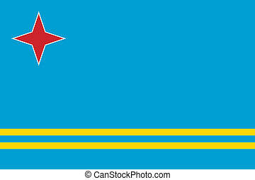 Flag of Aruba Vector illustration