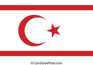 Flag of the Turkish Republic of Northern Cyprus. Vector...