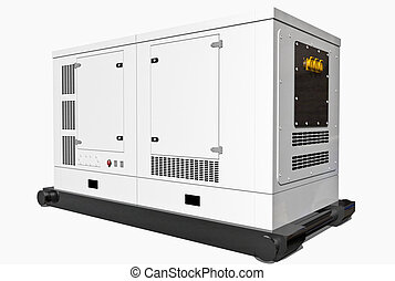 Gas Generator isolated on white background