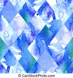 Watercolor geometric background