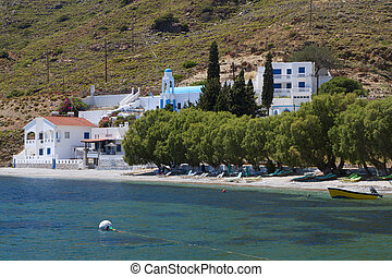 Kalymnos island in Greece - Emborios bay at Kalymnos island...