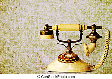 vintage phone - Photo based illustration of vintage phone