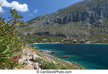 Kalymnos island in Greece - Arginontas beach at Kalymnos...