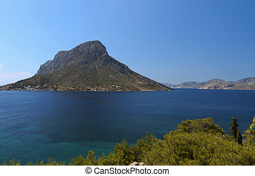 Kalymnos island in Greece - Telendos isle at Kalymnos island...