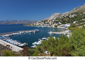 Kalymnos island in Greece - Port of Melitsahas fishing...