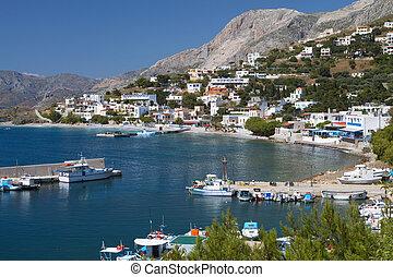Kalymnos island in Greece - Port of Melitsahas fishing...
