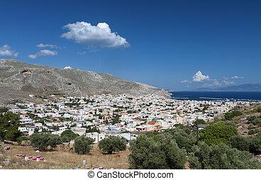 Kalymnos island in Greece - Kalymnos island at Dodecanese in...