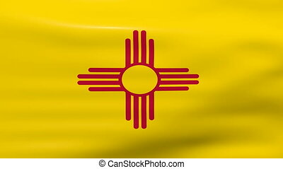 Waving New Mexico State Flag