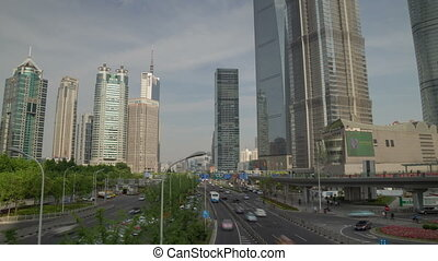 Shanghai overpas hyperlapse - SHANGHAI, CHINA - MAY 5:...