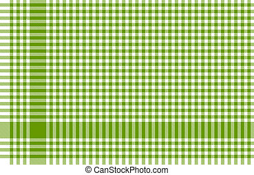 Checkered tablecloths pattern green