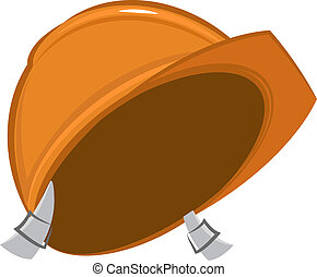 Construction helmet Vector cartoon