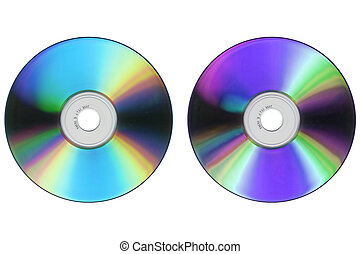 CD DVD isolated over a white background