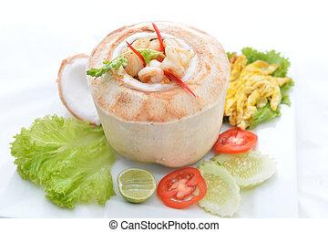 Ho Mok Thai food steamed seafood custard , curry seafood...