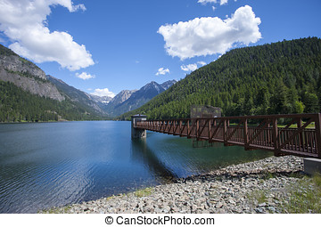 Feature at Lake MacDonald. - Lake MacDonald near St....