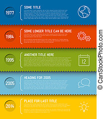 Modern infographic timeline report template - Vector modern...