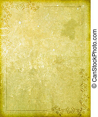 Paper Background with Corner Design Border - An old looking...