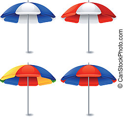 Beach umbrella - Vector illustration - Beach umbrella on...