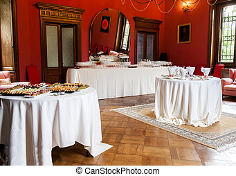 catering buffet Tercesi castle - a catering buffet for a...