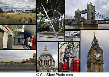 London - Collage Beautiful landscapes and atmospheres of...