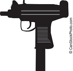Uzi gun - This is a vector illustration of an Uzi machine...