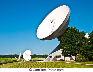 Parabolic reflector antenna for communication