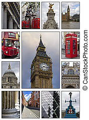 London - Collage. Beautiful landscapes and atmospheres of...
